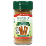 Frontier Natural, Organic Ground Ceylon Cinnamon (Cinnamon Powder), 50g