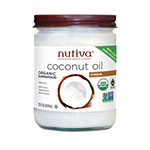 Nutiva, Organic Virgin Coconut Oil, Glass, 680ml
