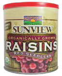 Sunview Organic Raisins - Red Seedless