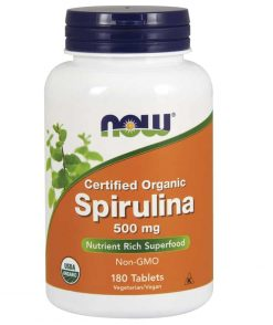 Now Spirulina 500mg 180 Tablets