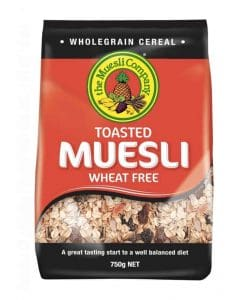 The Muesli Company Toasted Muesli Wheat Free