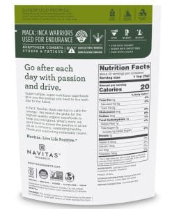 navitas organic maca powder label