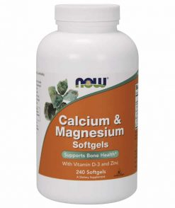 now calcium magnesium with vitamin D3 and zinc 240 softgels