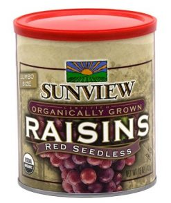Sunview Organic Red Raisins
