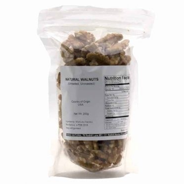 Natural unroasted walnuts