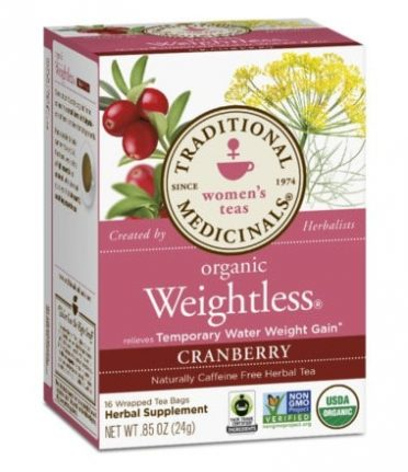 Weightless with cranberry tea