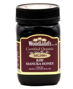 Woodlands organic manuka honey mg200