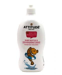 Attitude Baby Bottle and Dishwashing Liquid