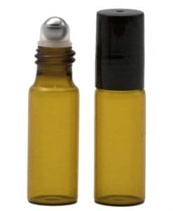 Amber Glass Roller Bottle 5ml