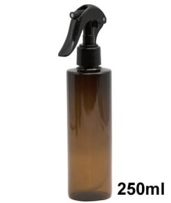Amber plastic spray bottle 250ml