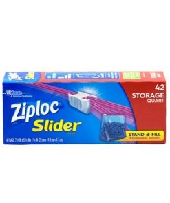 Ziploc Slider Quart Storage Bags