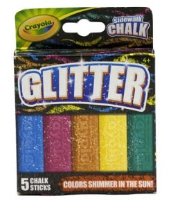 Crayola Glitter Washable Sidewalk Chalk