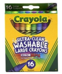 Crayola Ultra Clean Washable Large Crayons 16 Count