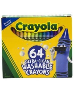 Crayola Ultra Clean Washable Crayons 64 Count