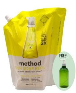 Method Dish Soap Refill Lemon Mint 32oz