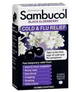 Sambucol Black Elderberry Cold and Flu Relief